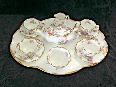 V.RARE C1887-1912 EDWARDIAN HAMMERSLEY 12 PIECE AFTERNOON TEA SET DRESDEN SPRAYS • 500£