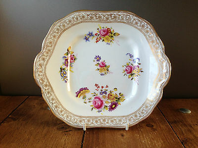 Gorgeous Antique Hammersley & Co Dresden Sprays Floral Cake Plate - 2 Available • 35£