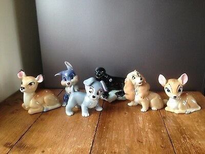 SELECTION OF RARE WADE LARGE BLOW UP FIGURINES C1961-63 DISNEY LADY & THE TRAMP • 39.95£