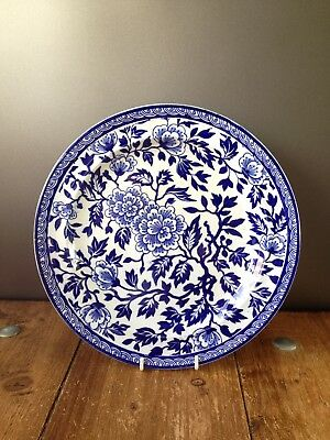 Stunning Rare Antique The Kaolin Gardners Blue & White Floral Dinner Plate • 30£