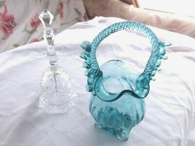 Glass Basket And Glass Bell • 35£