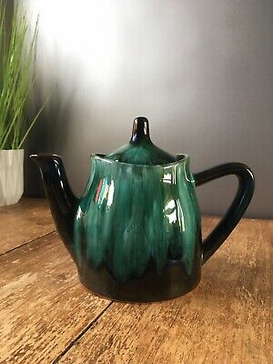 Stylish Retro Blue Mountain Pottery Dripglaze Teapot Bmp Made In Canada Vintage • 22£
