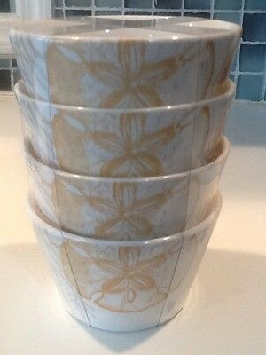 222Fifth Life's A Beach Coral  New 4 Appetizer  / Dessert Bowls • 22.62£