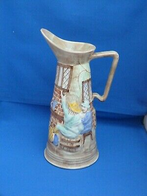 Collectable H J Wood Burslem Tall Pottery Pouring Jug 1930's? H28cms  • 18.99£