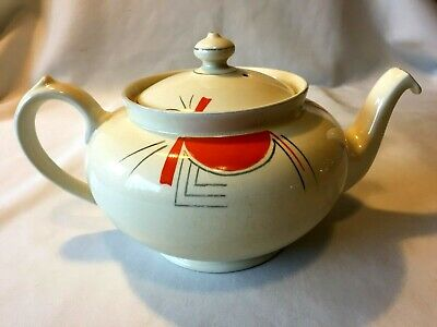 Art Deco BCM Nelson Ware Hand Painted Teapot Tea Pot - Made In England • 12£