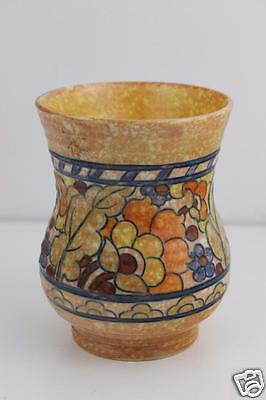 Charlotte Rhead Crown Ducal Hand Made Tubelined Vase SIGNED  13x10cm • 155£