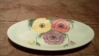 Vintage Handpainted Oval Dish Decorated With Flowers. Radford England • 10£