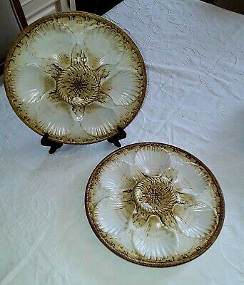 Vintage X2  Oyster, Sea-food Plate French Chantilly • 19.50£
