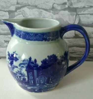 Victoria Ware Ironstone Vintage Large Pitch Jug Blue And White • 20£