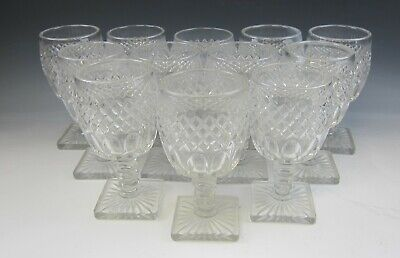 Lot Of 12 Westmoreland WATERFORD CLEAR 10 Oz Water Goblets EX • 51.32£