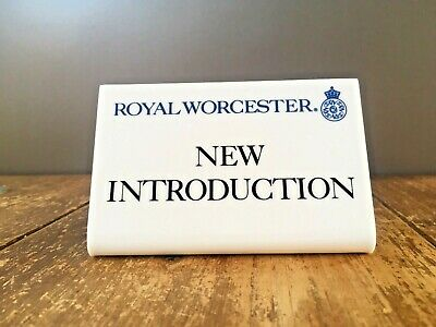 Rare Royal Worcester Advertising Point Of Sale Display Plaque Shop Antiques Fair • 26£