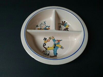 Vintage Baby's Divided Nursery Rhyme Pink Bowl • 1.84£