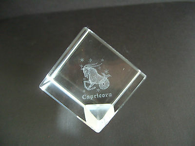 Capricorn Star Sign Laser Crystal Cube • 7.99£
