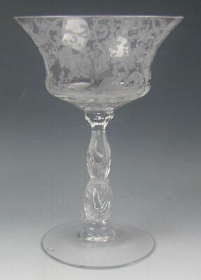 Cambridge Etched Glass CHANTILLY 3625 Champagne/Tall Sherbet Glass(es) EXCELLENT • 5.97£