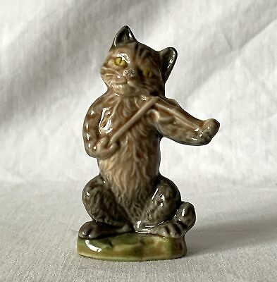 Vintage CAT & THE FIDDLE Rare Large Wade Nursery Rhyme Favourites Ornament 1970s • 6.99£