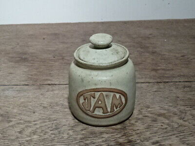 Vintage Cornish Pottery Jam Pot, With Lid. No Maker's Mark • 12.50£