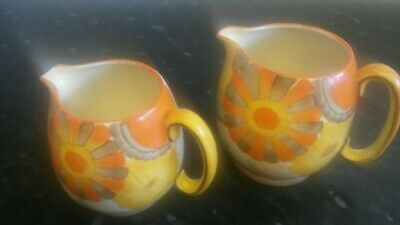 Grays Pottery Matching Floral Jugs • 40£