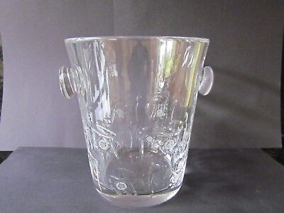 CUT CRYSTAL CHAMPAGNE COOLER / ICE BUCKET - VERY HEAVY! (Ref3801) • 35£