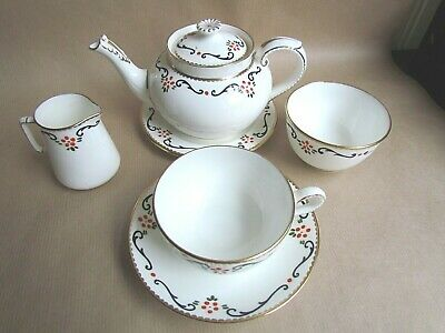 GEORGE JONES CRESCENT CHINA 27342 PATTERN TEA SET FOR ONE (Ref4331) • 38.50£