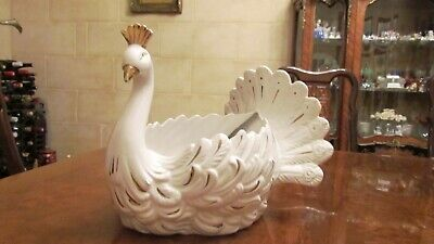 RARE Vintage Retro White Swan Planter Pot Vase  • 35£