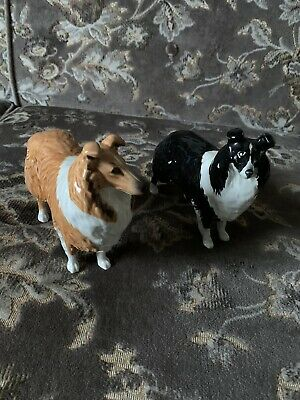 Two Beswick Dogs Border And Rough Collies • 25£