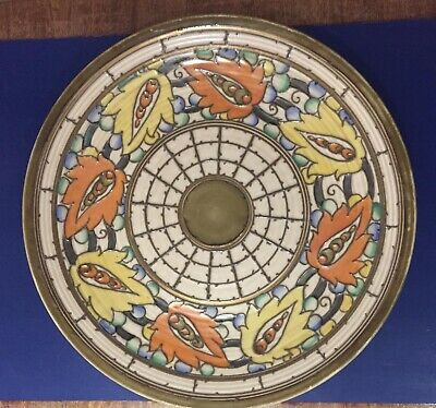 Crown Ducal Charlotte Rhead Persian Leaf 5623 Charger • 85£