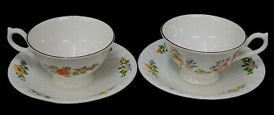 2 UNUSED  Aynsley Cottage Garden Bone China Tea Cups & Saucers - More Available • 5.99£