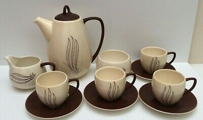 CARLTON WARE 1950's 'WINDSWEPT' PATTERN AUSTRALIAN DESIGN COFFEE SET  • 32.99£