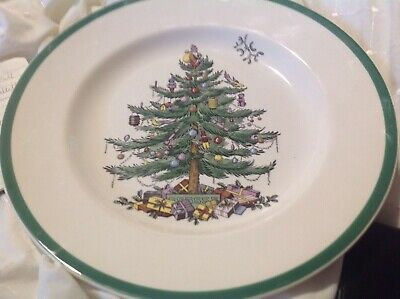 10 Spode Christmas Tree Dinner Plates • 100£