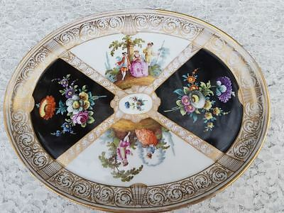 Late 19th Century KPM Berlin Porcelain Oval Tray Hand Painted 10.60 Inches • 120£