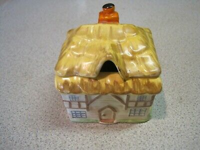 W.R Midwinter - Burslem Thatched Cottage. Vintage Honey / Jam Pot With Lid. Nice • 5.99£