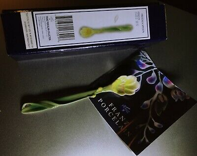 Vintage Hand Painted Franz Porcelain Collection Freesia Spoon Boxed • 46£