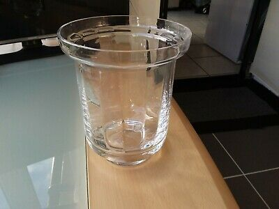 Large Very Heavy Dartington England 24% Lead Crystal Ice Bucket / Vase • 12.50£