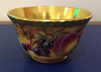 Stunning Royal Worcester Hand Painted Fruit Study Vase Signed By P. Stanley • 450£