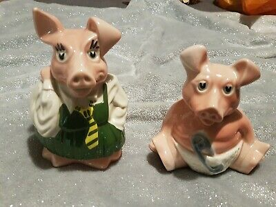 Wade Natwest Piggy Banks Baby Woody & Annabel With Stoppers • 14£