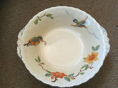 Vintage Fruit Bowl By GRINDLEY Pottery 'Kingfisher' • 15£