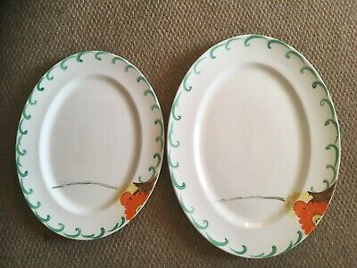 Two  Hand Painted Dinner Platters By Myott And Son  Floral Pattern • 35£