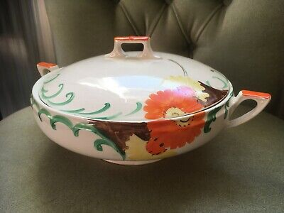 Lidded Tureen Hand Painted  By Myott And Son  Floral Pattern • 25£