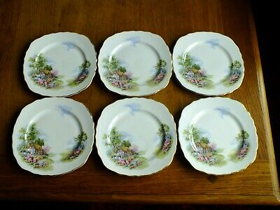 Royal Vale Bone China Country Cottage Garden Tea / Side Plates X 6 • 17£