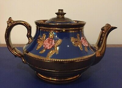 Beautiful Small Blue And Gold Teapot • 18£