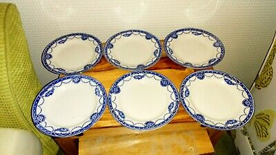 Antique Blue And White Plates 7  Inch X6 • 8£