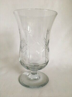 Antique Cut Glass Footed Celery Vase • 10£