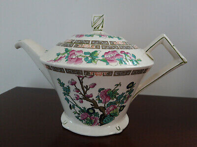 Large Vintage Myott Indian Tree Tea Pot, Art Deco Style • 15£