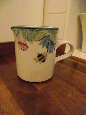 Tain Pottery Scotland Jug 4 Inches High Bee Pattern • 9.87£