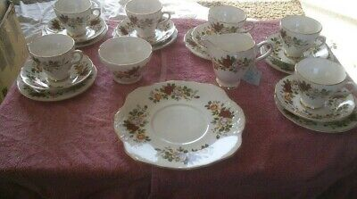 Vintage Royal Sutherland Staffordshire Bone China 21 Piece Tea Set • 35£