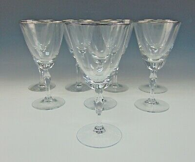 Lot Of 8 Fostoria Crystal ENGAGEMENT Water Goblets • 47.43£