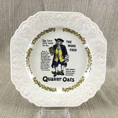 Quaker Oats Victorian Advertising  Old Advert Plate Lord Nelson Pottery • 20£