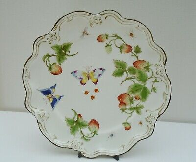 Coalport Strawberry Butterfly & Insect Cake Plate Vintage • 25£