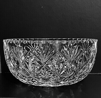 Lovely Lead Crystal Glass Bowl • 11£