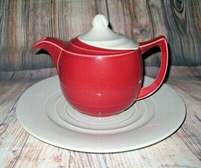 Vintage Branksome China Art Deco Tea Pot With Matching Plate • 14.99£